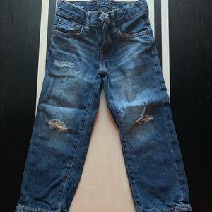 GAP Straight Distressed Jeans